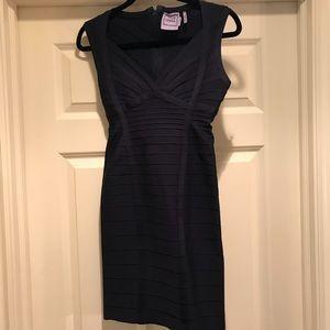 Herve Leger Midnight Navy Dress